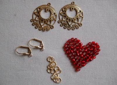 Ohrringe selbstgemacht, Faschings Ohrringe, Perlen, Kostüme, Schmuck, Karneval, Alaaf, Helau