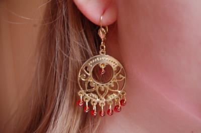 Ohrringe selbstgemacht,Faschings Ohrringe,Perlen,Kostüme,Schmuck,Karneval,Alaaf,Helau